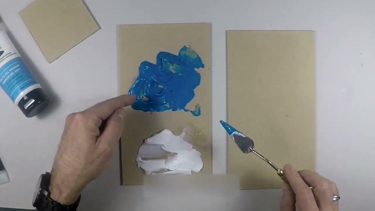 Test et présentation de matériel de peinture acrylique : Gel mat et brillant en tube - YouTube