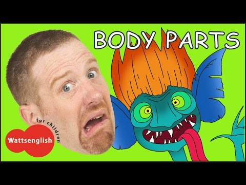 Body Parts from Steve and Maggie + MORE English Stories for Kids | Head Shoulders | Magic English