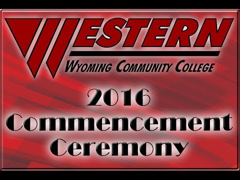 Western Wyoming Community College 2016 Graduation