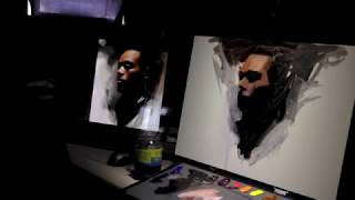 """Painting a portrait from photo"" by Casey Baugh"
