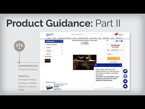 Boscov's Digital Engagement | Contextual Guidance With Moxie Kbot™ | Product Guidance Pt.2