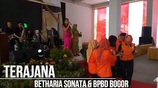 TERAJANA Betharia Sonata Goyang Dangdut Bersama di Peresmian Gedung BPBD Bogor