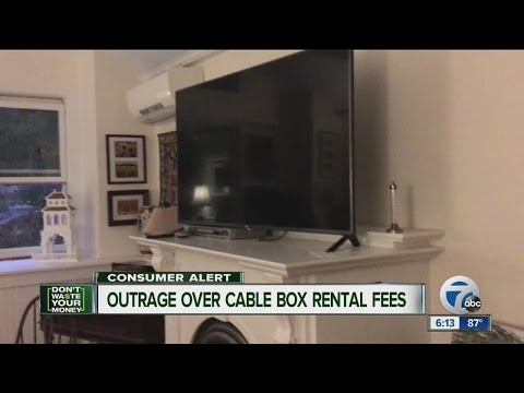 Outage over cable box rental fee