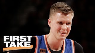 Are the kristaps porzingis trade rumors a hoax? | first take | june 21, 2017