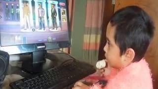 Computer Baby girl Raisha at the age of 2 years.