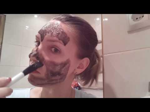 Маска для очищения лица с активированным углем и желатином