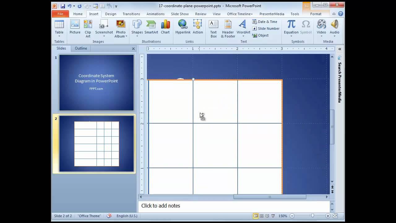 Coordinate system in powerpoint youtube coordinate system in powerpoint ccuart Gallery
