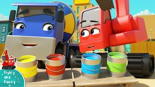 Learn Your Colors  Construction Cartoon for Kids | Digley and Dazey