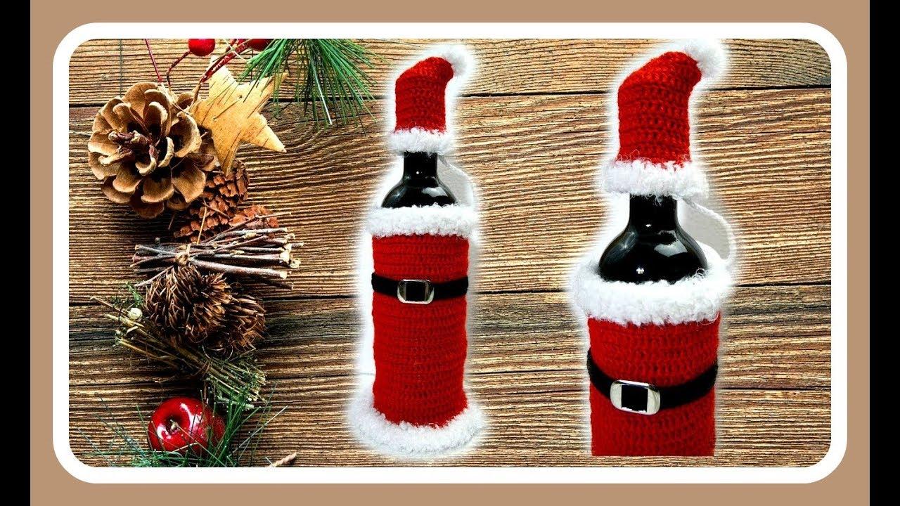 geschenkidee f r weihnachten h keln i flaschentasche i weihnachtsgeschenk i selbst gemacht youtube. Black Bedroom Furniture Sets. Home Design Ideas