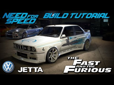 Need for Speed 2015   The Fast & The Furious Jesse's Volkswagen Jetta Build Tutorial   How To Make