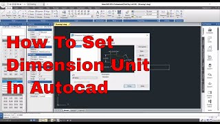 How To Set Dimension Unit In Autocad | Autocad tutorial In Hindi | Learn Autocad