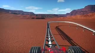 Aerodinámica   Planet Coaster ride 1080p 60fps