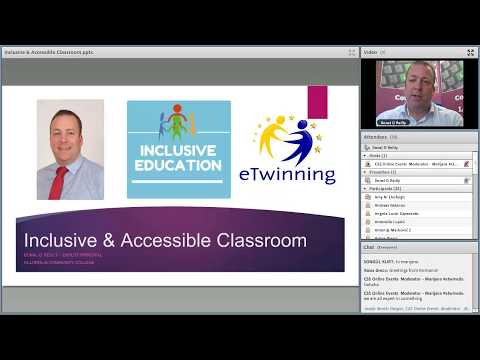 "eTwinning Inclusive Education Live Event with Donal O'Reilly on ""Inclusive and Accessible Classroom"
