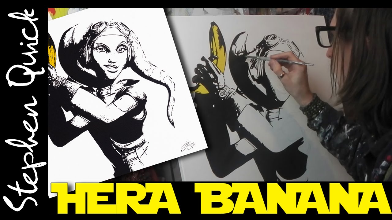 Hera Banana Speed Painting Star Wars Rebels Art By Stephen Quick