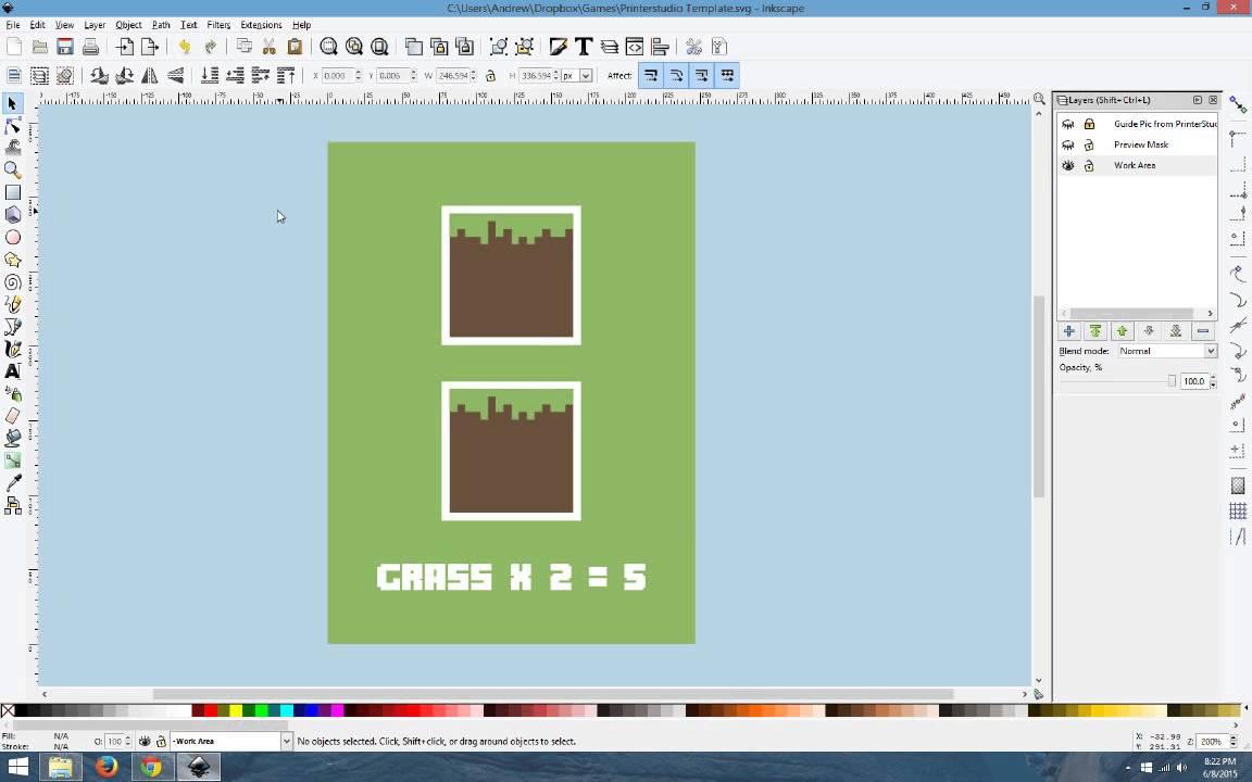 PrinterStudio Inkscape Template