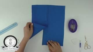 як зробити шліцу на спідниці майстер клас
