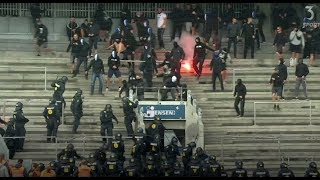 Copenhagen hooligans storm Brondby stadium. 06.08.2017