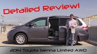 2014 Toyota Sienna Limited AWD DETAILED Review and Road Test YouTube Videos