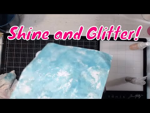 DIY Varnish Spray and Adding Glitter to Your Painty Papers!