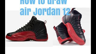 How to draw air Jordan 12