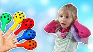 ALINA plays with Balloons ! Fun playtime with children and Finger Family !