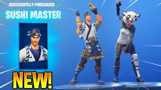 *NEW* SUSHI MASTER & PANDA TEAM LEADER Skins! (New Item Shop) Fortnite Battle Royale