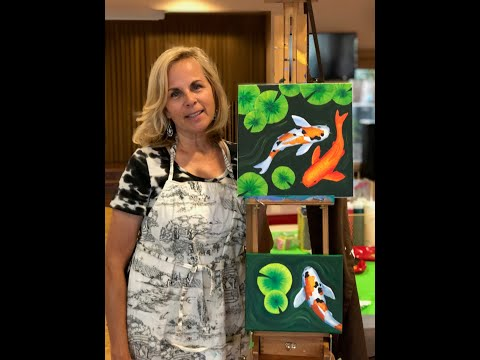 Koi Pond With Lily Pads Painting Lesson With Victoria Gobel
