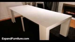 Space Saving Table Becomes Massive Dinner Table Expand Furniture