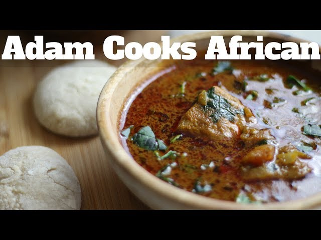 African Soup with FuFu recipe , how to cook that
