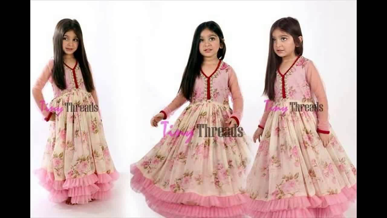 Latest Kids Frock Wear Dresses For Winter By Tiny Threads - YouTube