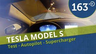 Tesla Model S Test Deutsch Autopilot Beschleunigung Supercharger Design Update Review 4K by 163 Grad