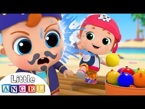 Water Balloon Fight | Little Angel Kids Songs & Nursery Rhymes