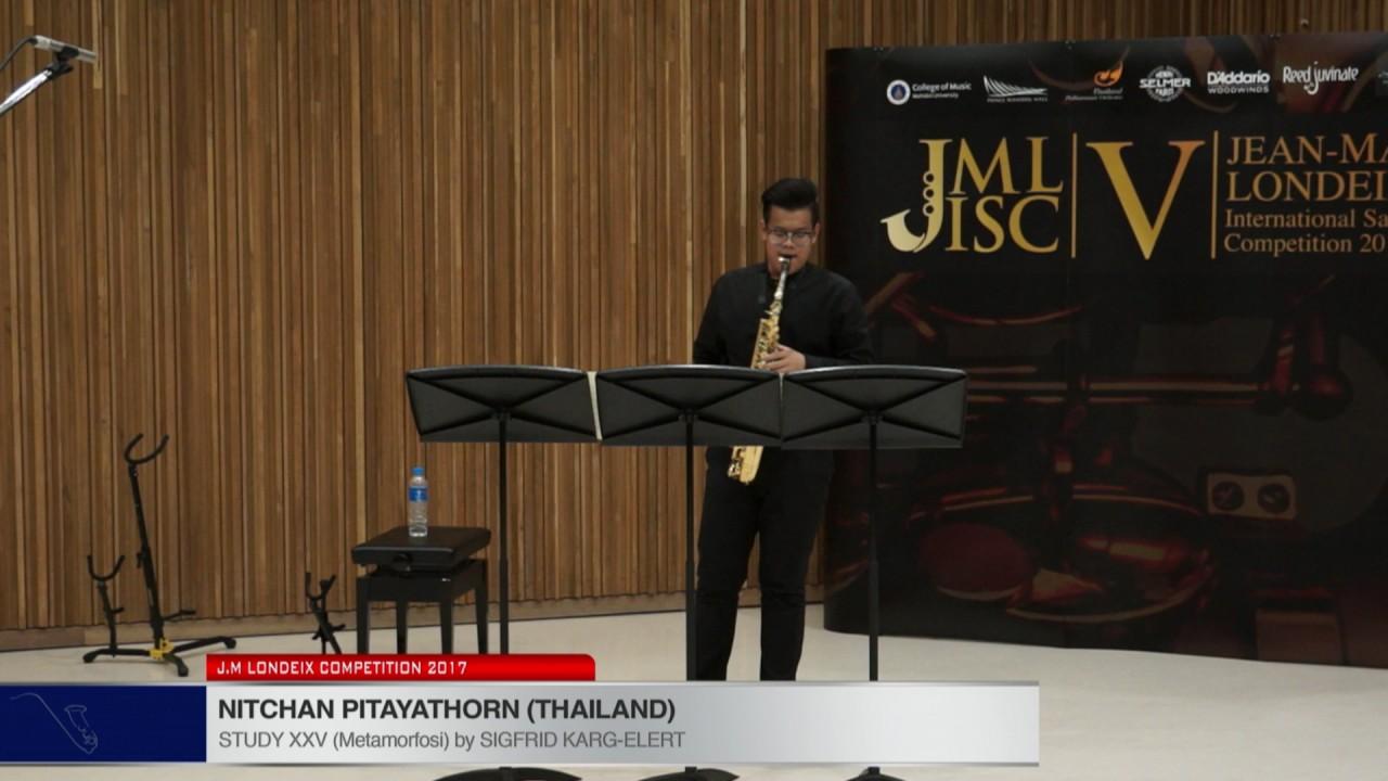 Londeix 2017 - Nitchan Pitayathorn (Thailand) - XXV Metamorfosi by Sigfrid Karg Elert