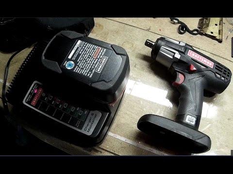 Craftsman 1 2 Heavy Duty 19 2v Cordless Impact Wrench Kit Unboxing Test