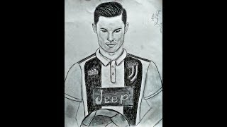 Drawing of Cristiano Ronaldo|CR7 - Welcome to Juventus!!