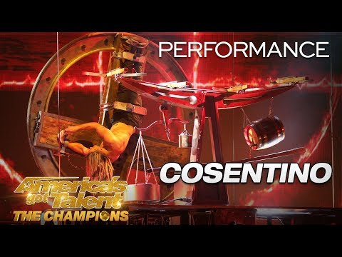 Cosentino: Escape Artist Performs Fiery, Death-Defying Stunt - America's Got Talent: The Champions
