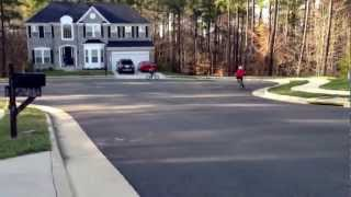 7 year old and 8 year old on bikes doing tricks!