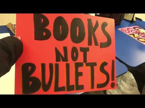 TEANECK HIGH SCHOOL WALKS OUT AGAINST GUN VIOLENCE