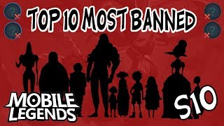 Top 10 Most Banned Heroes in Ranked - Season 10 - Mobile Legends