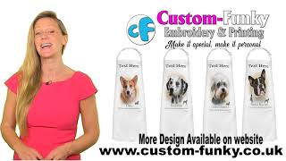 Customised Dog Aprons 💕 Free UK Delivery 💕 custom-funky.co.uk