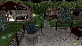 видео Ландшафтный дизайн с бассейном