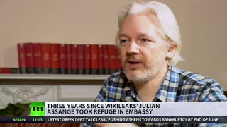 Assange Refuge: 3 years in embassy, policing costs abt  £11,000 a day