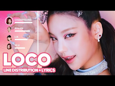 ITZY - LOCO  (Line Distribution + Lyrics Karaoke)