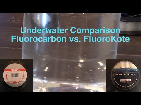 Underwater Comparison Fluorocarbon Fishing Lines Vs. KastKing FluoroKote
