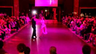 Tristan MacManus and Anna Trebunskaya dance the Rumba