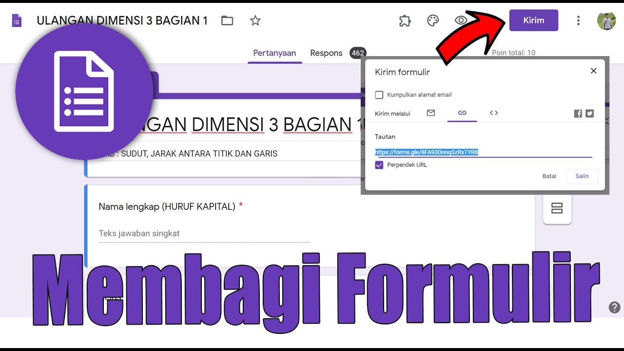 Begini Caranya Membagi Share Formulir Google Form Youtube