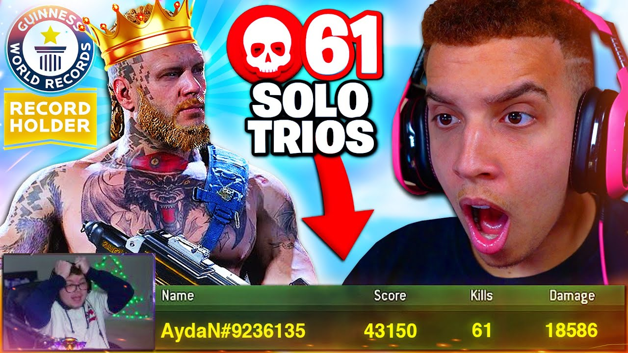 Reacting to WORLD RECORD 61 KILLS SOLO TRIOS in Warzone! (NEW Kill RECORD)
