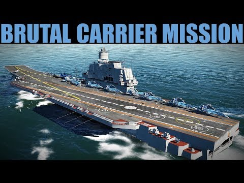 HUGE Naval Air Battle During Ship Attack Mission | DCS 2.5
