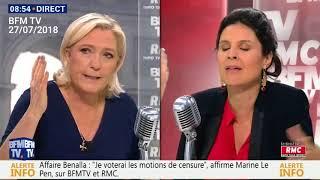 Marine Le Pen n'en peut plus des questions sur son père (et propose un café en échange)