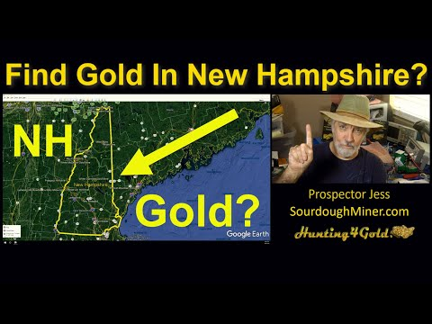 Where Is Gold Found In New Hampshire (Gold Location Map)